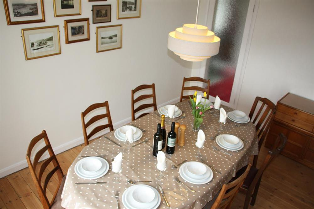Dining room with wooden table and chairs at Blackgate in 2 Mount Boone Way, Dartmouth