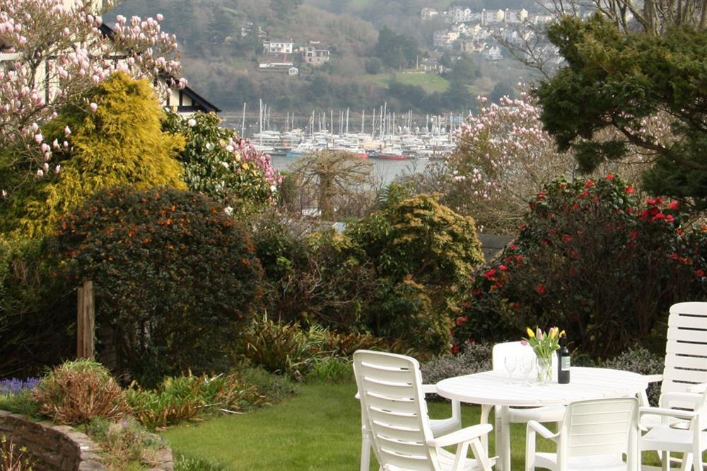 Furnished garden with river views at Blackgate in 2 Mount Boone Way, Dartmouth