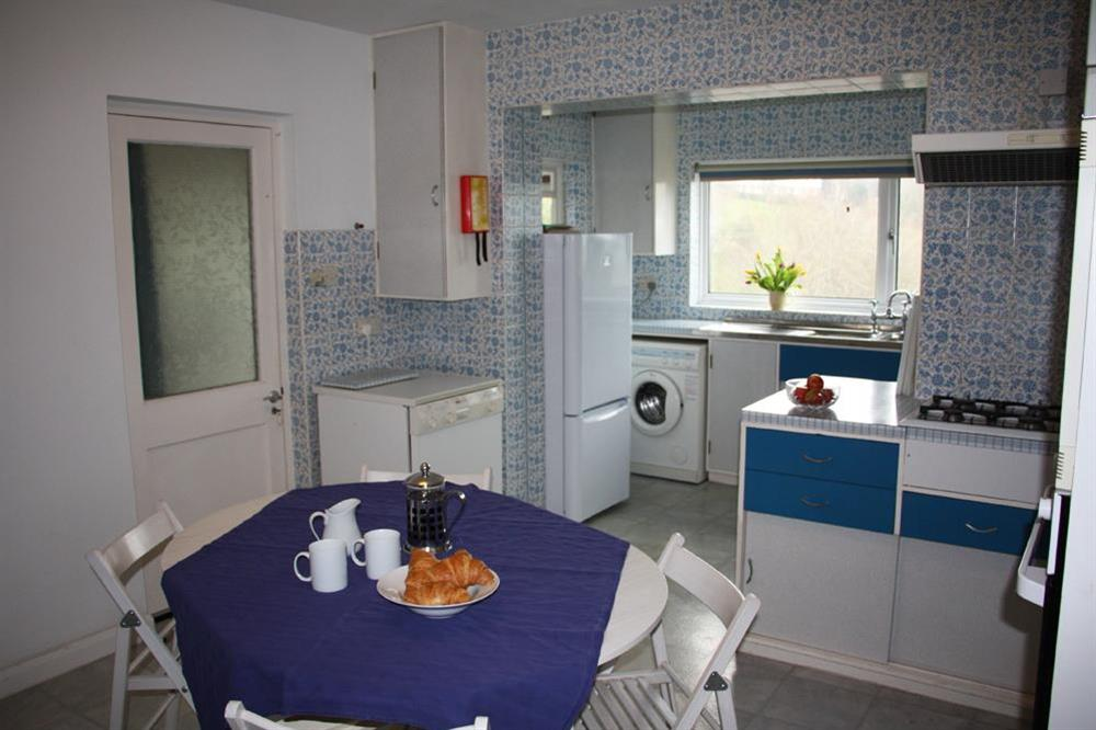 Kitchen with breakfast table at Blackgate in 2 Mount Boone Way, Dartmouth