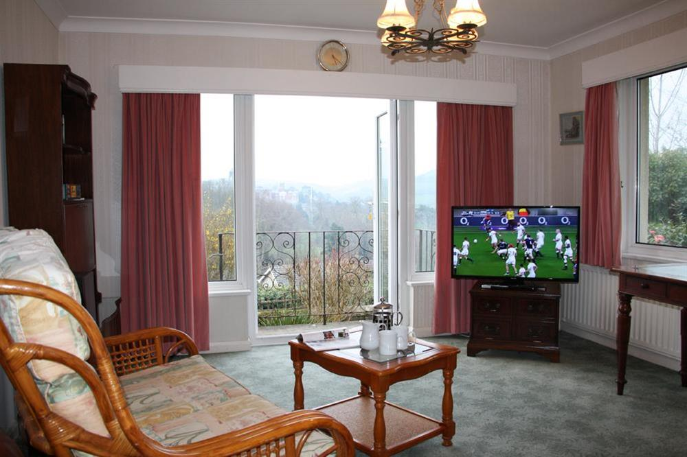 Lounge with French doors - lovely views of the Naval College at Blackgate in 2 Mount Boone Way, Dartmouth