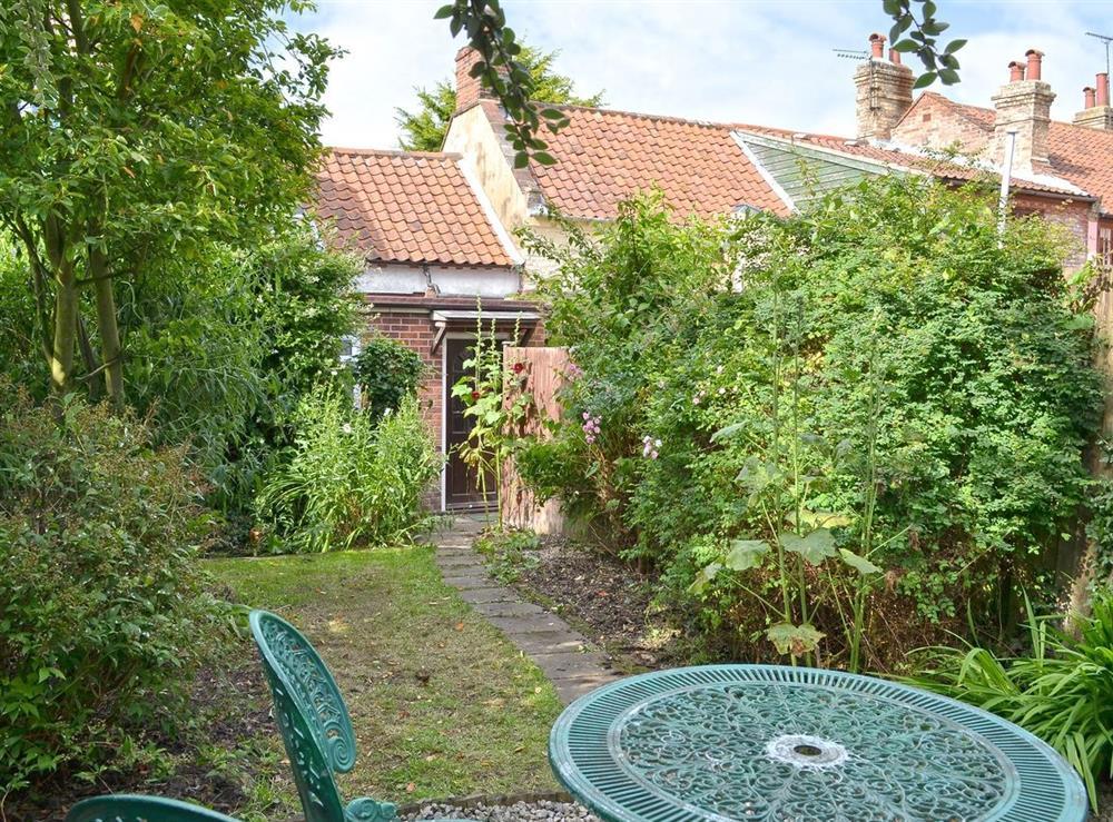 Garden at Blacksmiths Cottage in Lound, near Gorleston, Suffolk