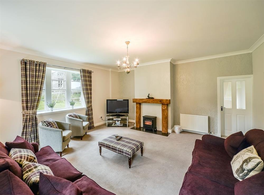 Living room at Cunninghame Cottage,