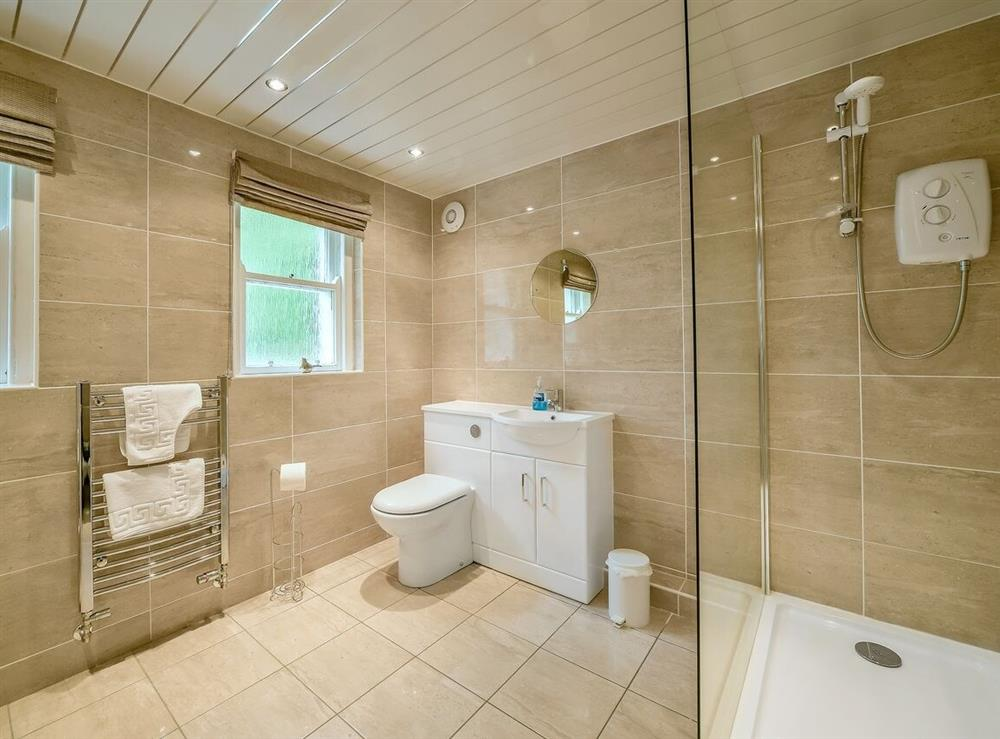 Shower room at Gardens Cottage,