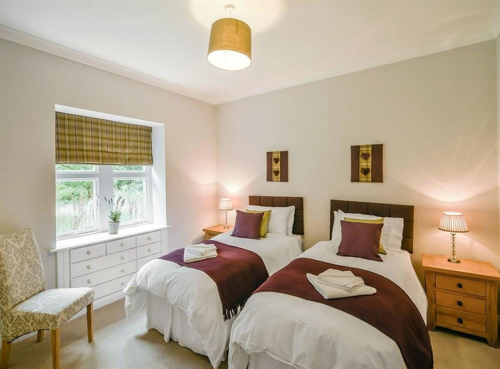 Twin bedroom at Gardens Cottage,