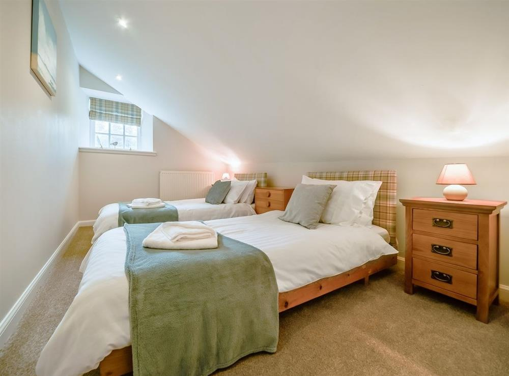 Twin bedroom at McDowall Cottage,