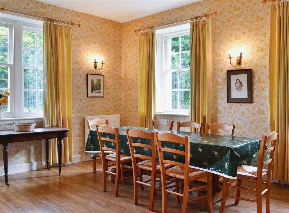 Dining room at Wauchope Cottage,