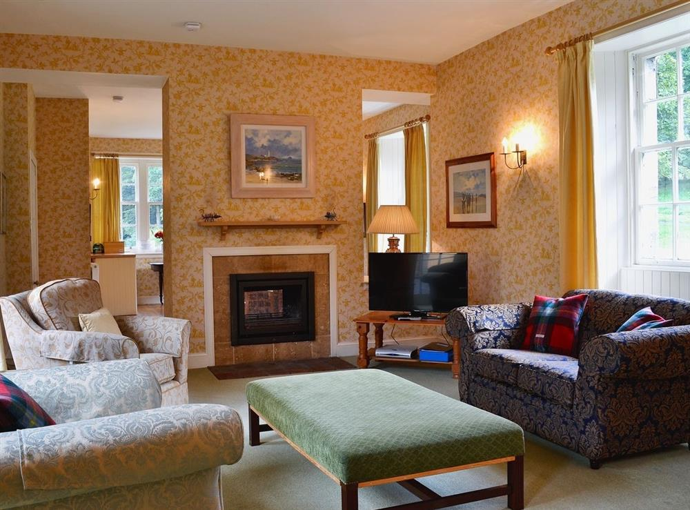 Living room at Wauchope Cottage,