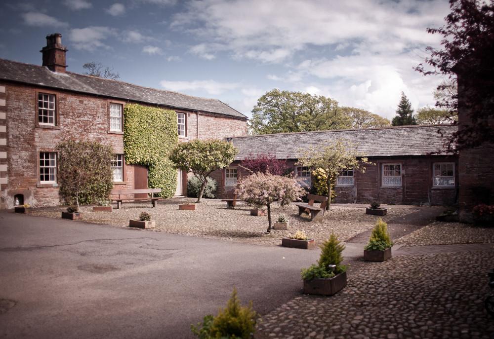 The courtyard around Blaithwaite Estate