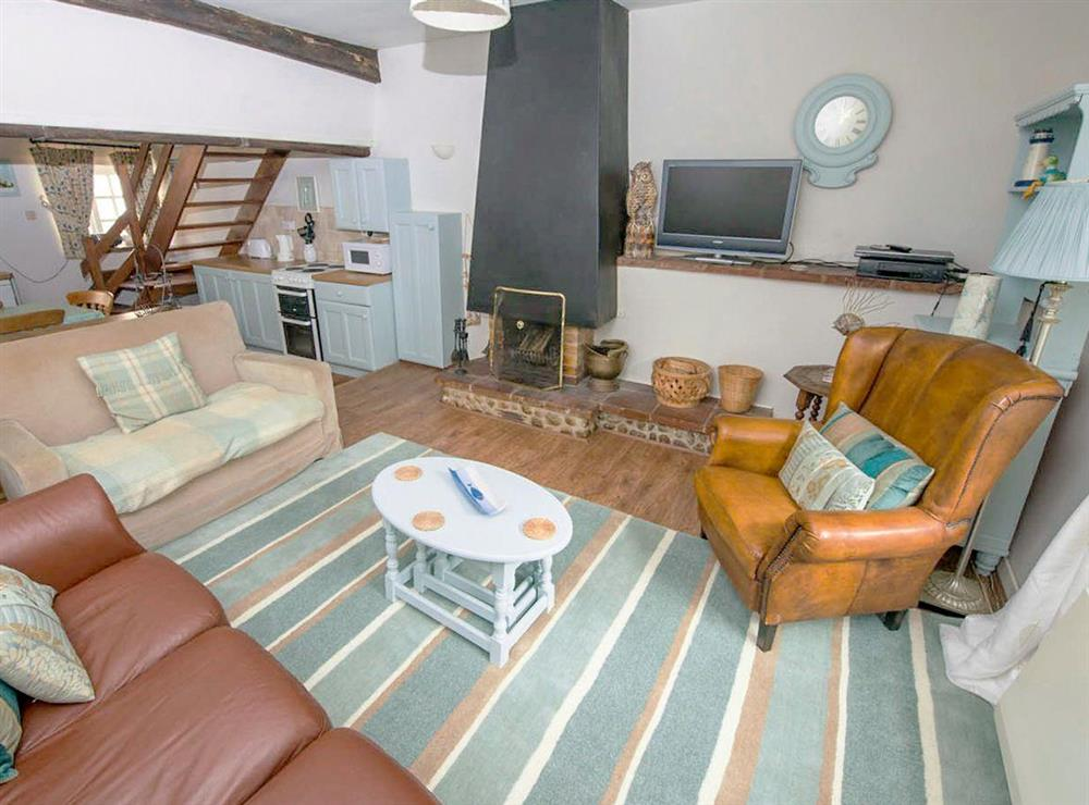 Well presented open plan living space at Buttercup Cottage,