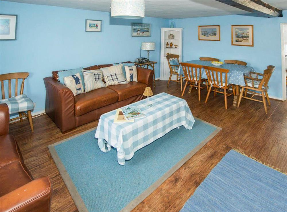 Spacious living dining room at Delphinium Cottage,