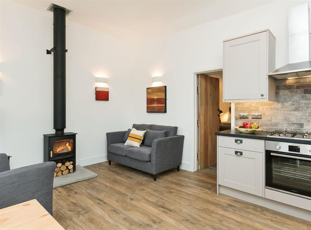 Thoughtfully renovated open plan living space at Blakeskerra Barn in Kenfig, near Porthcawl, Glamorgan, Mid Glamorgan
