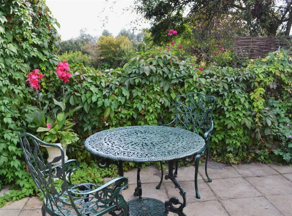 Sitting-out-area at Blue Bell Cottage in Denton, near Harleston, Norfolk