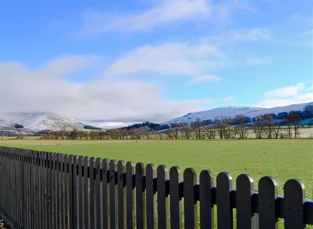 Stunning views of the surrounding area at Blueacres in Kilbucho, near Biggar, Lanarkshire