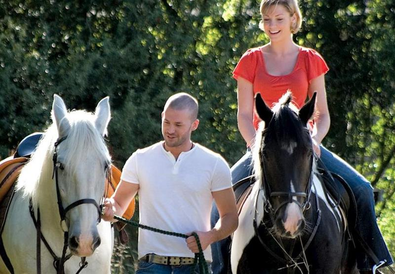 Horse riding within easy reach