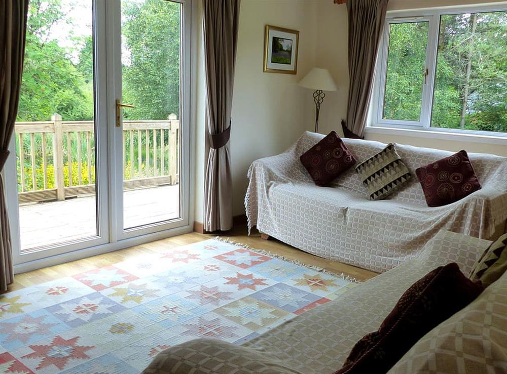 Living area at Bo Nan Taigh Cottage in Aberfoyle, Stirlingshire