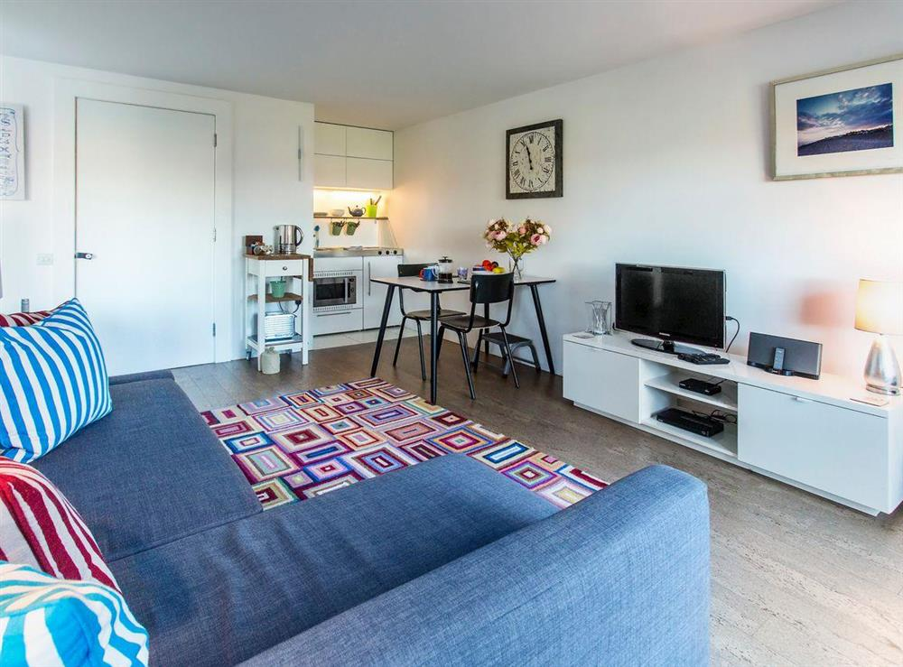 Stylishly furnished living/dining area at Boat Lake in Thorpeness, near Saxmundham, Suffolk