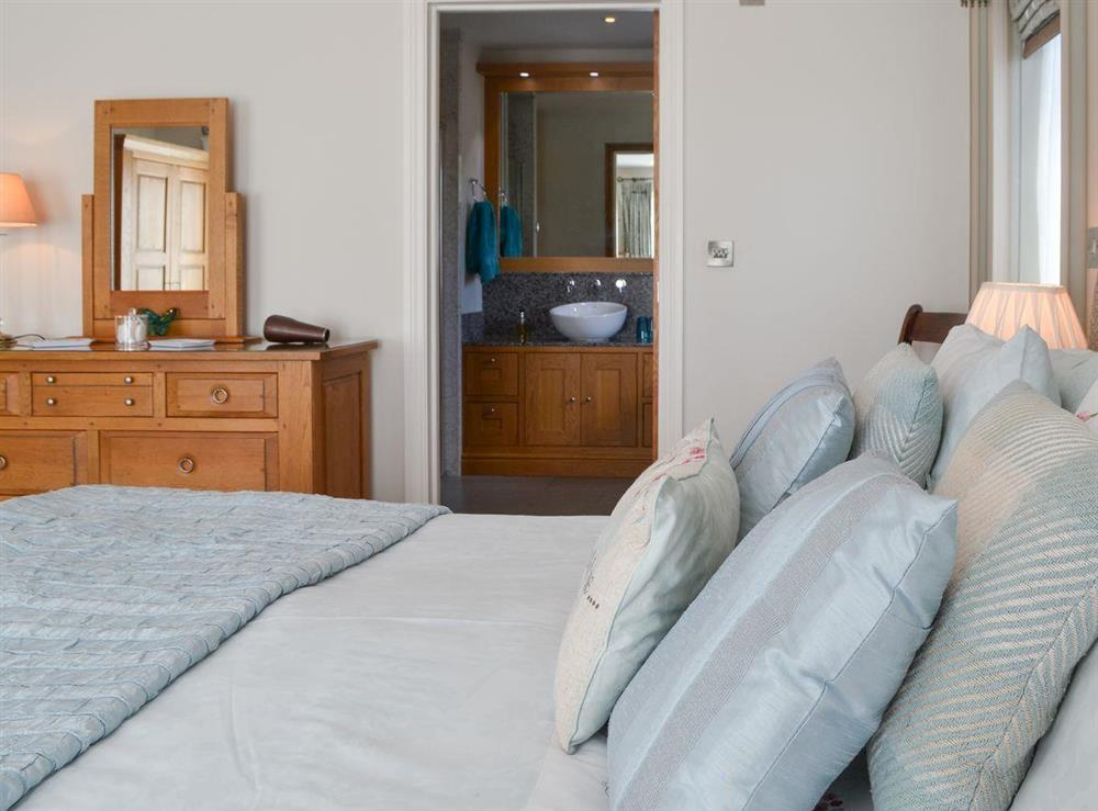 Comfortable double bedroom with en-suite at Bodrydd,