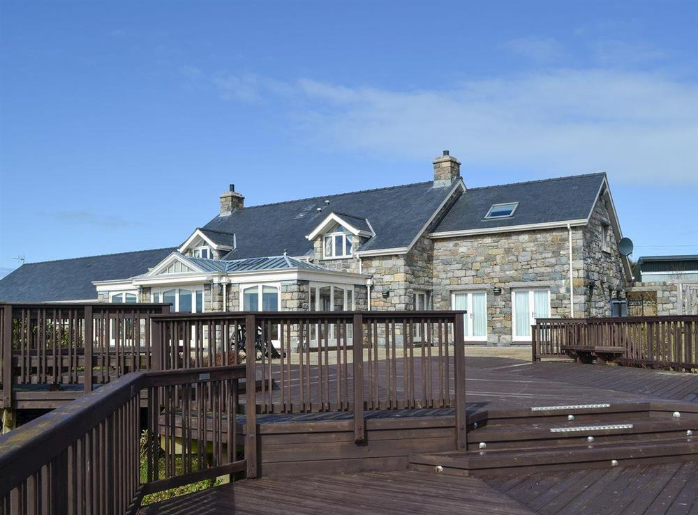 Spacious decking area at Bodrydd,