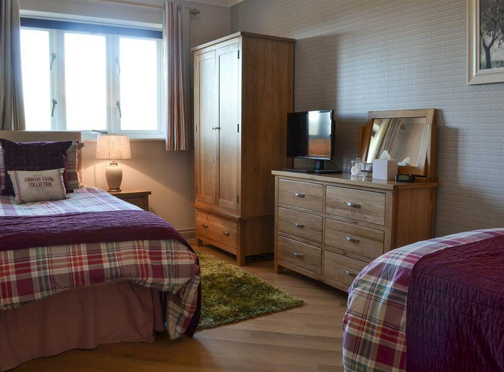 Twin bedroom at Bodrydd,