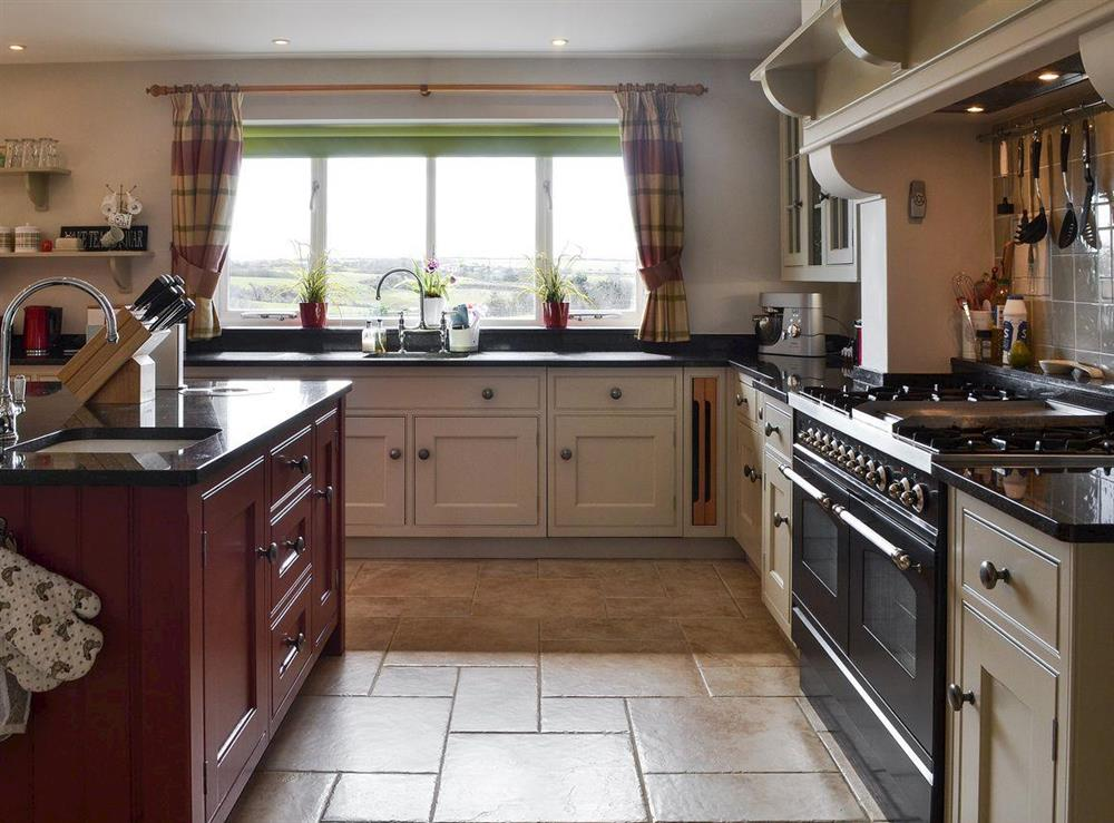 Well equipped kitchen with range cooker at Bodrydd,