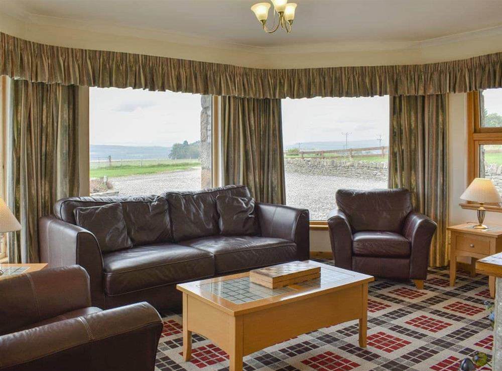 Living room at Bogearn in Aberlour, Moray, Banffshire