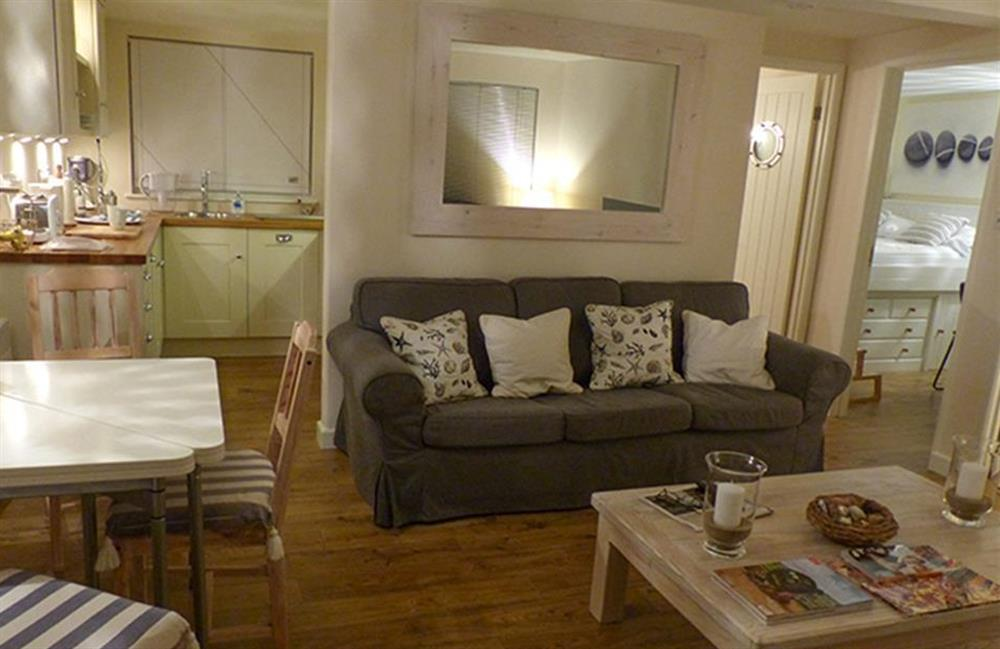 Another view of the comfortable living room at Bolthole Cabin, Dartmouth