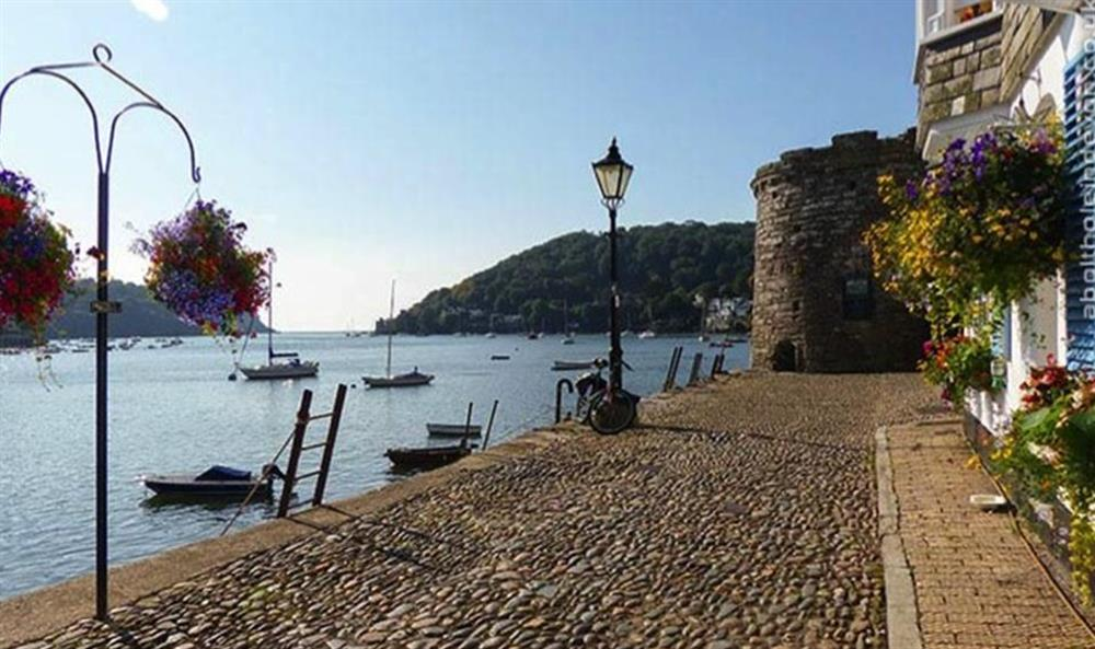 Bayards Cove and the ancient fort at Bolthole Cabin, Dartmouth