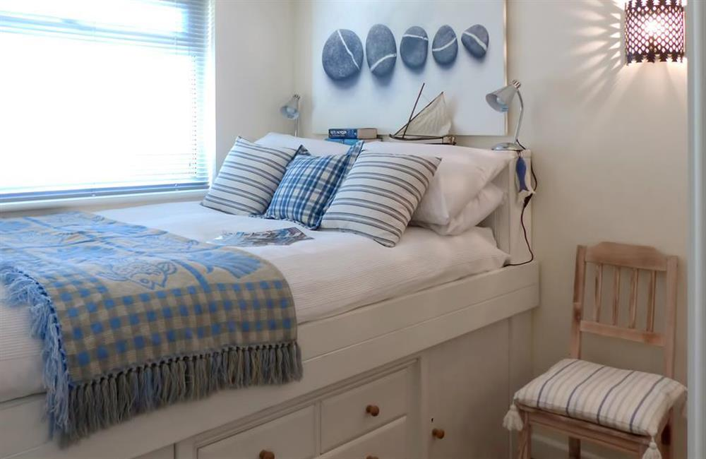 The delightful cabin style double bedroom at Bolthole Cabin, Dartmouth