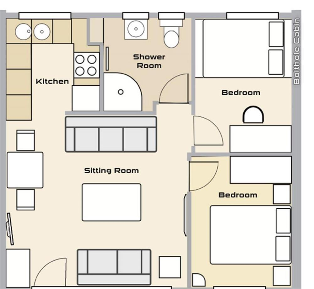 The floorplan for the property at Bolthole Cabin, Dartmouth