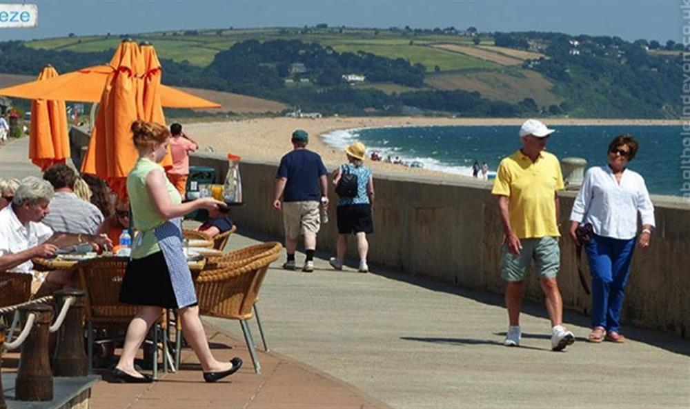 The Seabreeze Cafe on the front at Torcross at Bolthole Cabin, Dartmouth