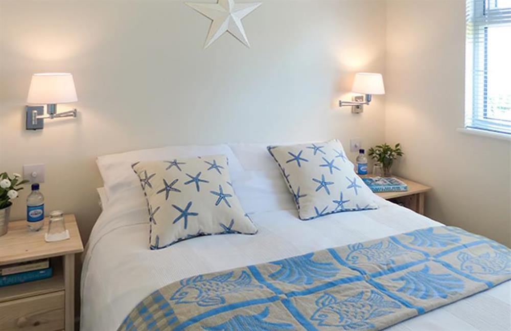The second double bedroom with lovely country views at Bolthole Cabin, Dartmouth