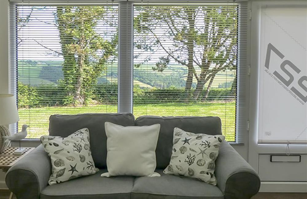 The view from the living room at Bolthole Cabin, Dartmouth
