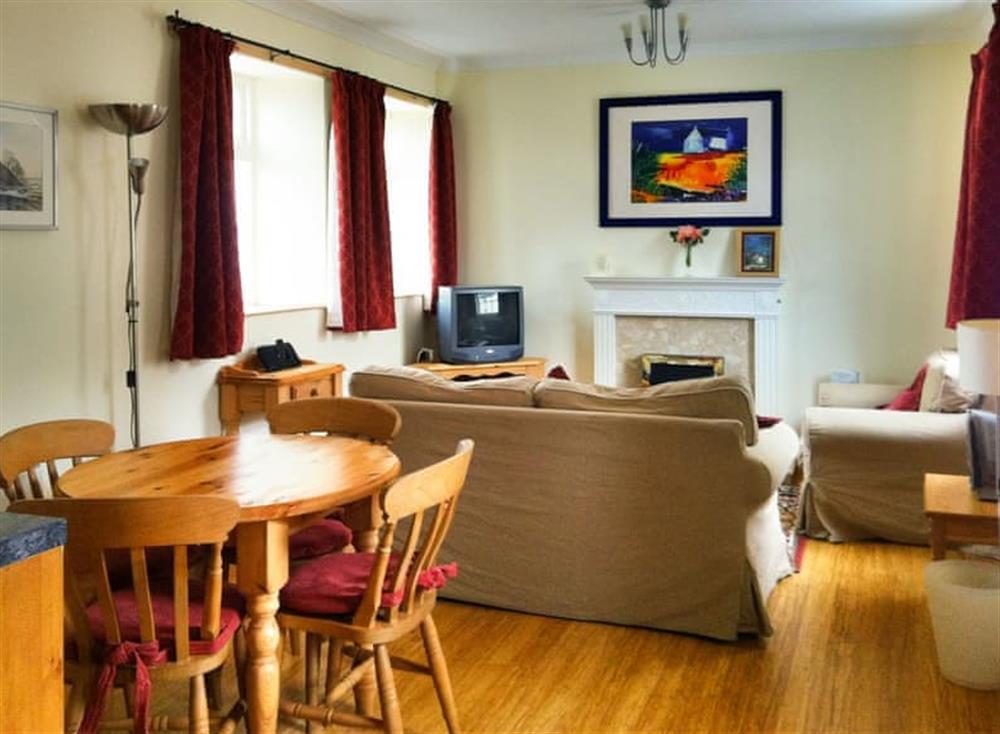 Convenient open-plan living space at Clematis Cottage,