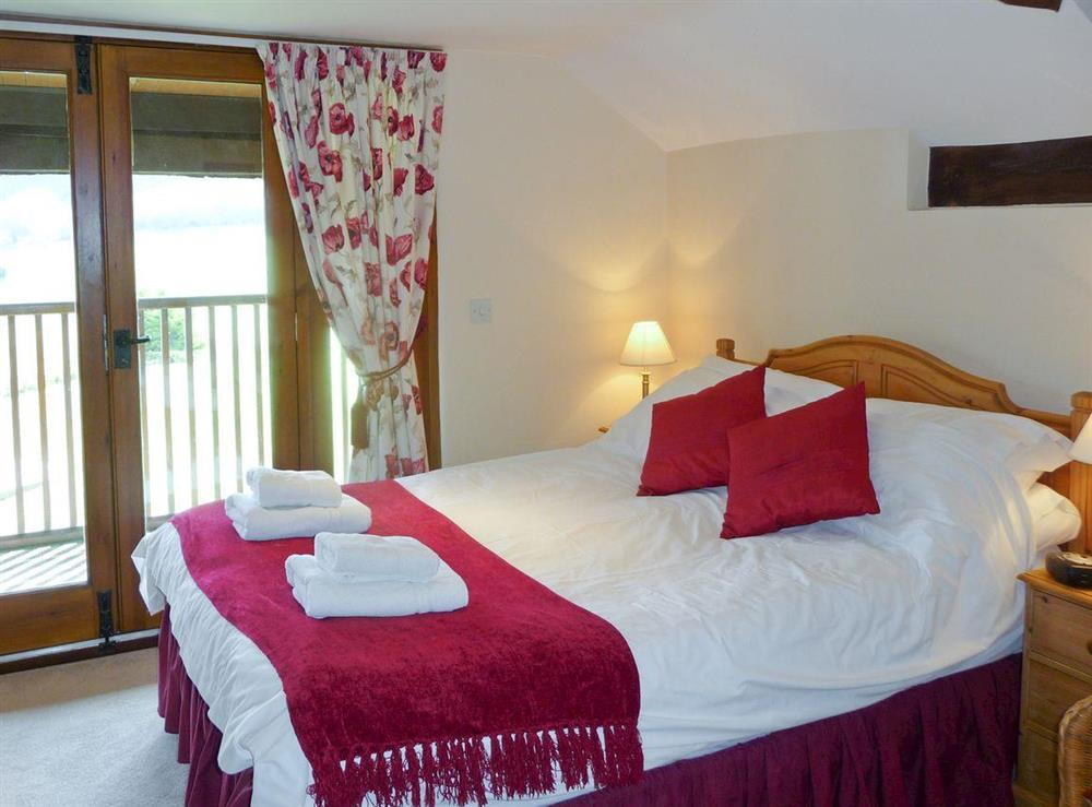 Comfortable double bedroom at Great Coombe,