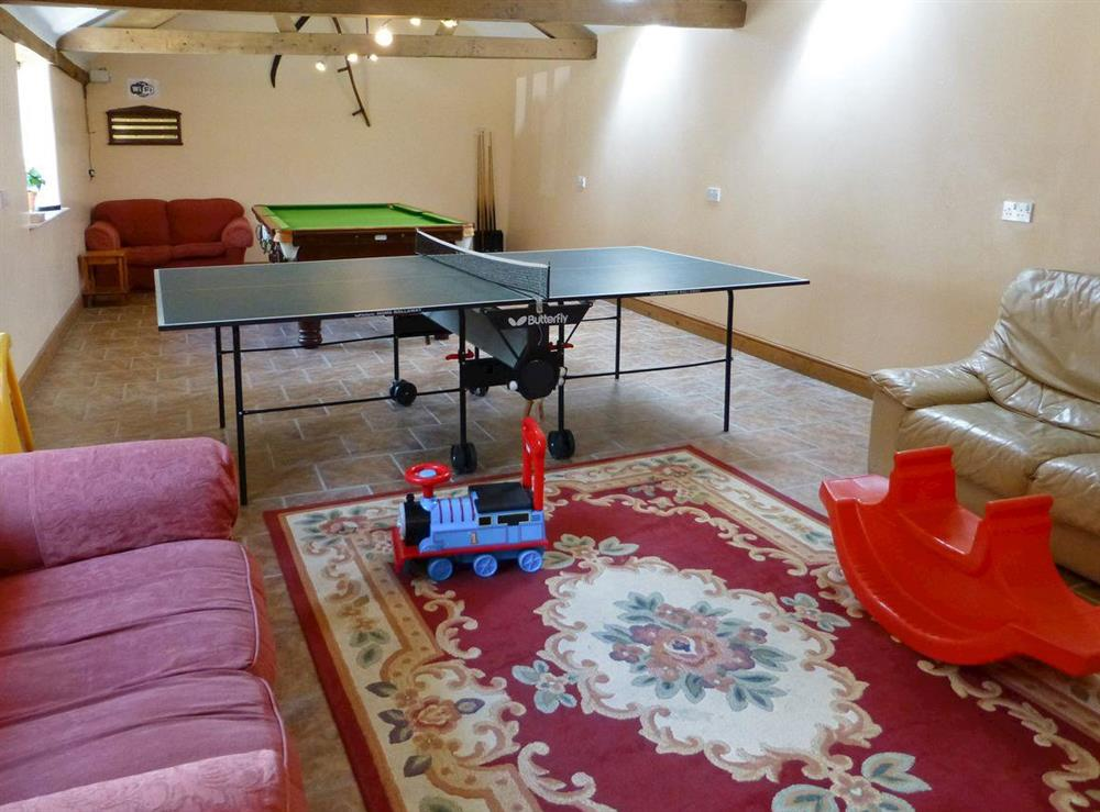 Shared games room at Great Coombe,