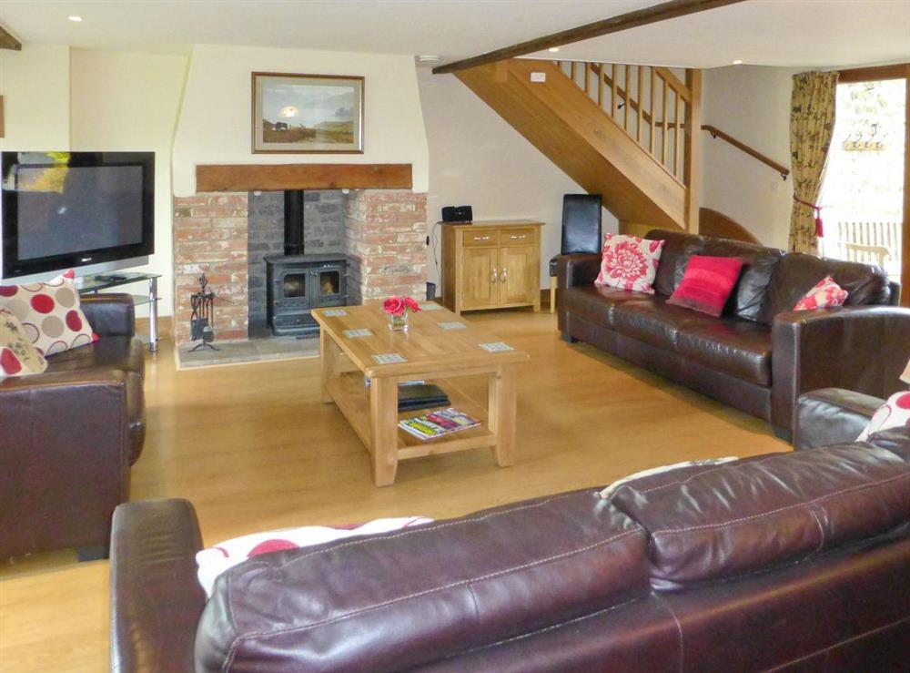 Spacious living room at Great Coombe,