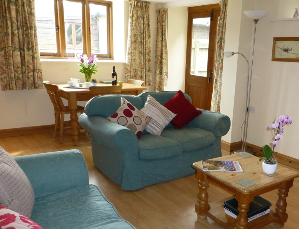 The living room at Little Coombe,