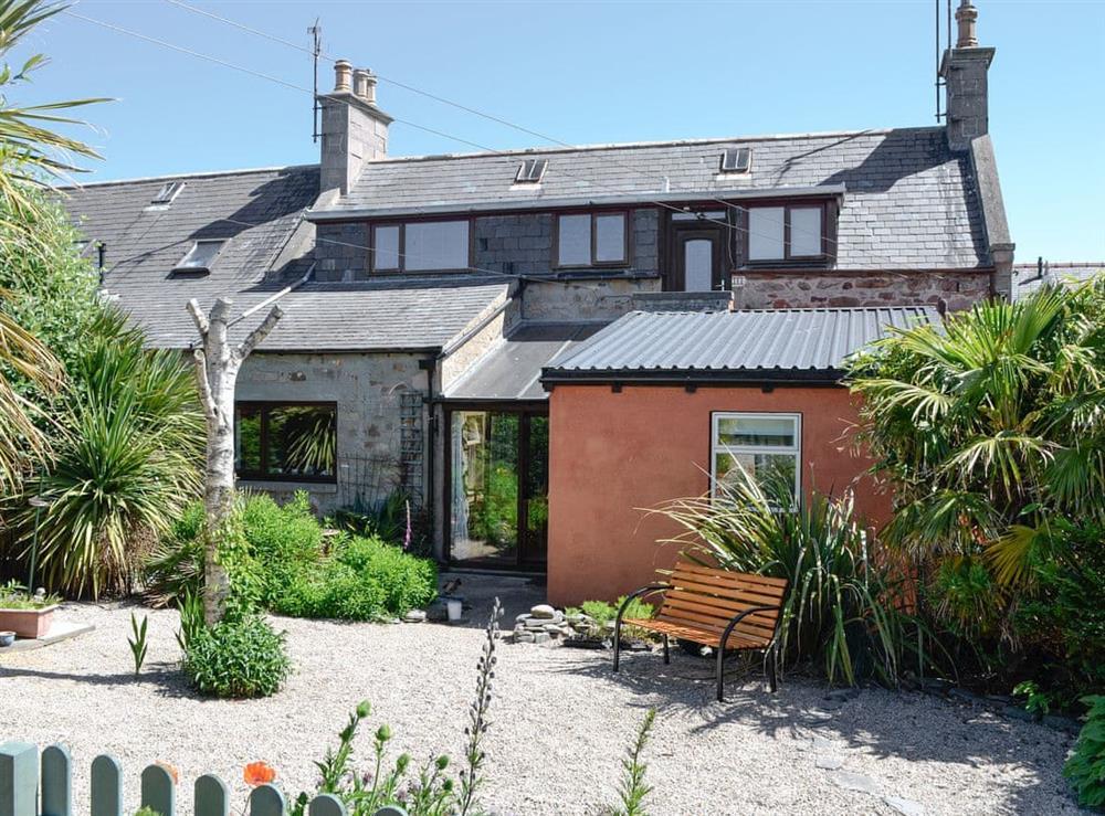 Garden area at Bracken View in Findochty, near Buckie, Highlands, Banffshire