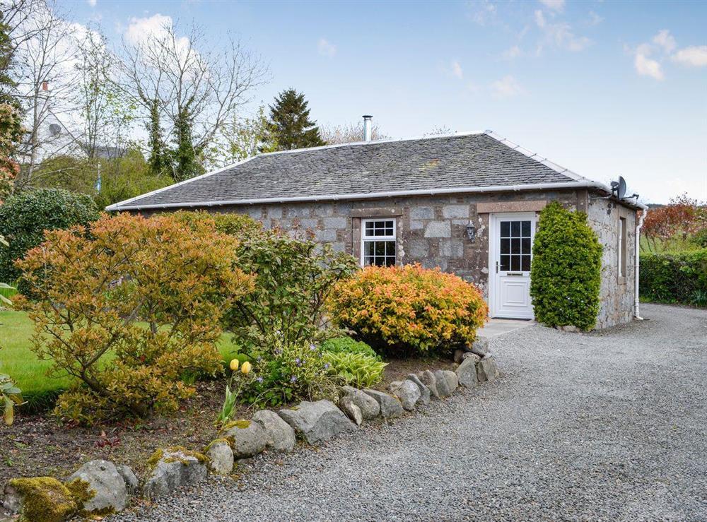 Exterior with garden area at Braefoot 1860 in Straiton, near Maybole, Ayrshire