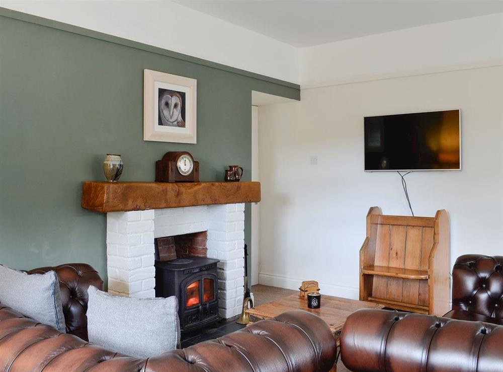 Living room with 39 inch TV at Braefoot 1860 in Straiton, near Maybole, Ayrshire