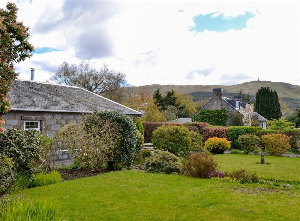 Lovely garden area at Braefoot 1860 in Straiton, near Maybole, Ayrshire