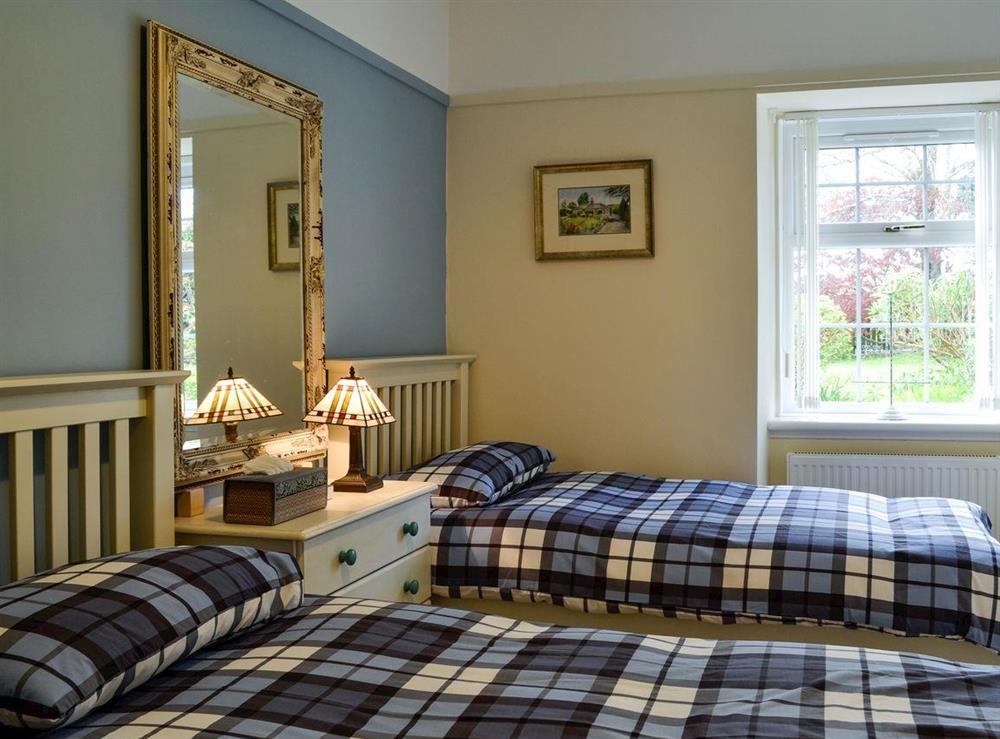 Twin bedroom at Braefoot 1860 in Straiton, near Maybole, Ayrshire
