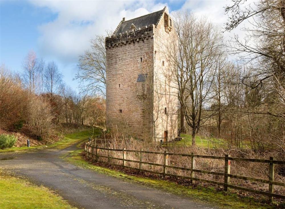 Spectacular historic medieval Scottish castle at Braidwood Castle,