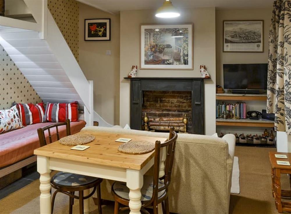 Charming open-plan living space at Bramble Cottage in Horrabridge, near Tavistock, Devon