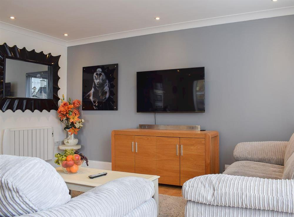 Sumptuous and inviting open plan living area at Bramble Cottage in Leven, Fife