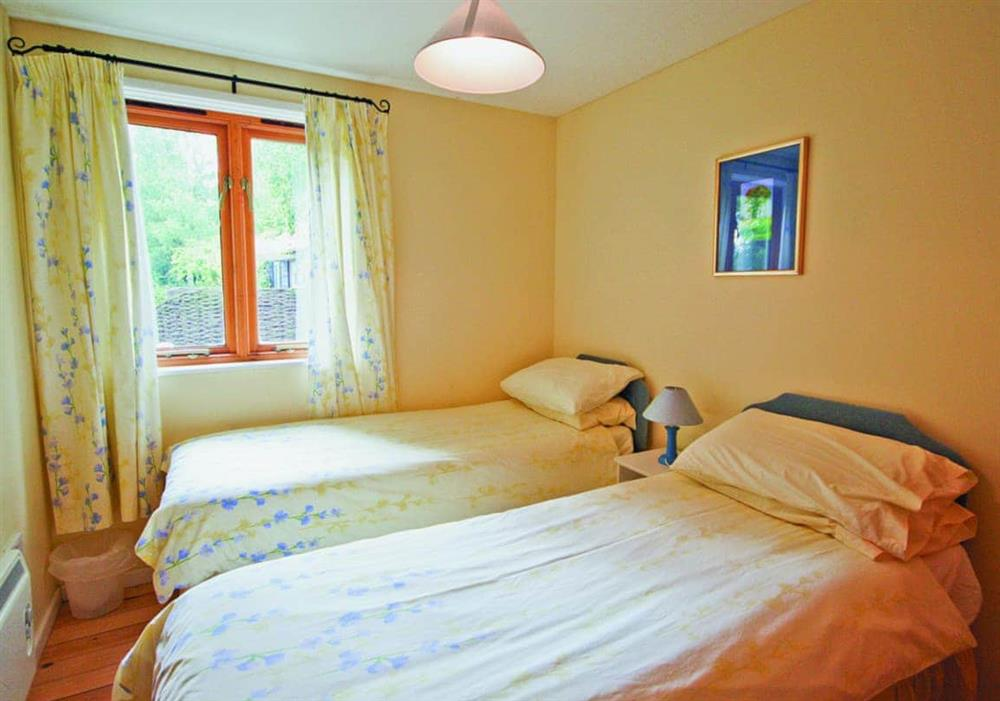 Twin bedroom at Briar Cottage in Beccles, Suffolk