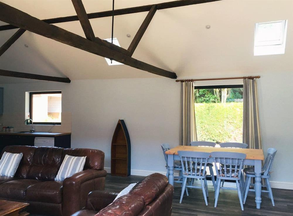Open plan living space at The Long Barn,