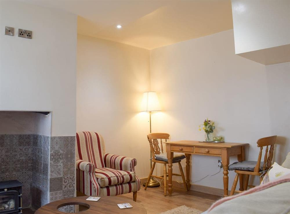 Open plan living space at Bridge Street Cottage in Kington, Herefordshire