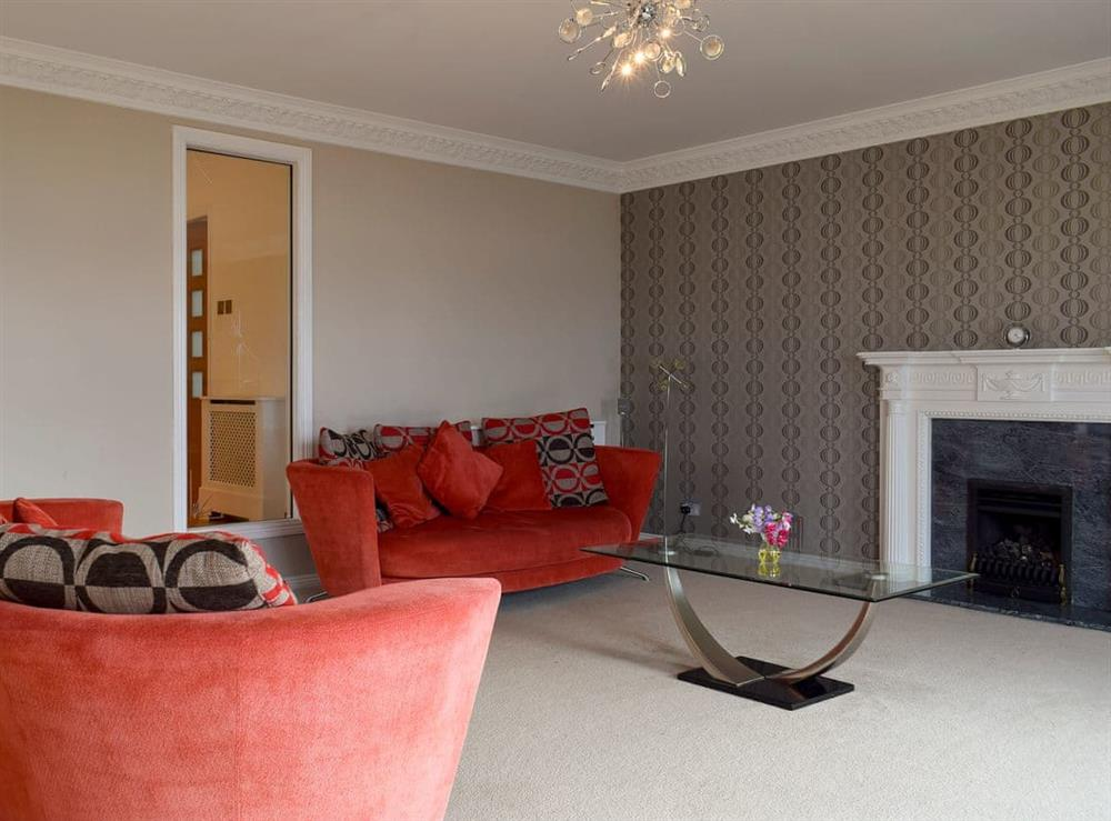 Spacious living room at Bridge View in Dalgety Bay, Fife