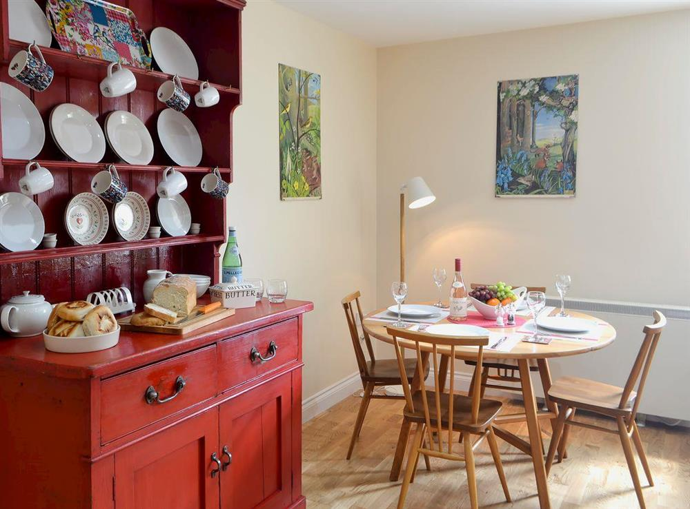 Dining area at Brier Dene End Cottage in Old Hartley, near Whitley Bay , Tyne and Wear
